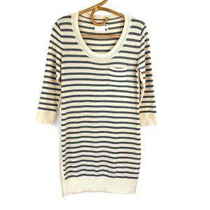 Rag & Bone Striped Grey Long Sleeve Sweater Dress